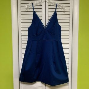 Topshop blue zip dress size 8
